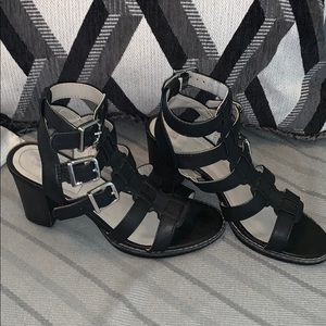 Strappy buckle heels